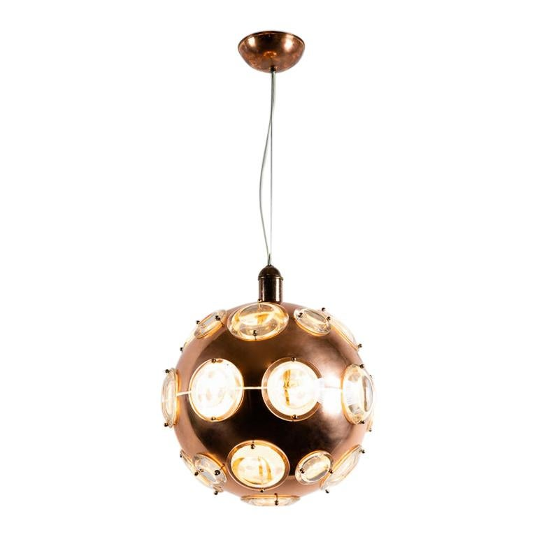 Midcentury Chandelier in the Manner of Oscar Torlasco, circa 1960 For Sale