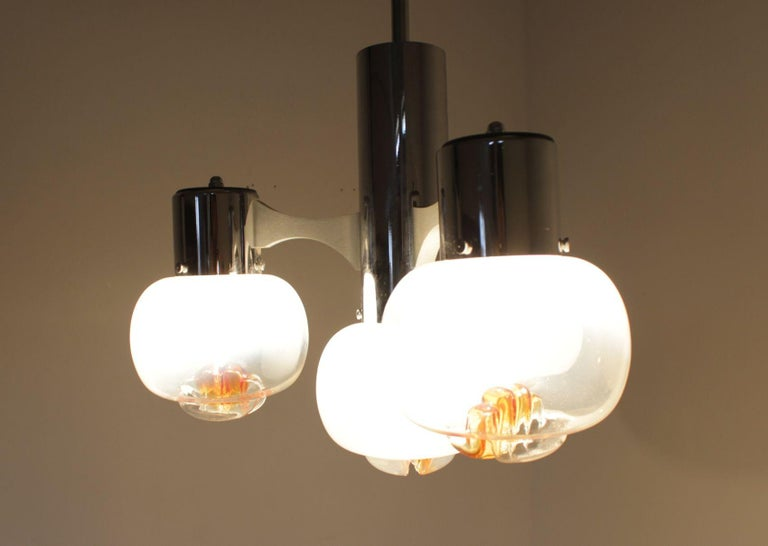 Late 20th Century Midcentury Chandelier Murano Glass, Mazzega, 1970s For Sale