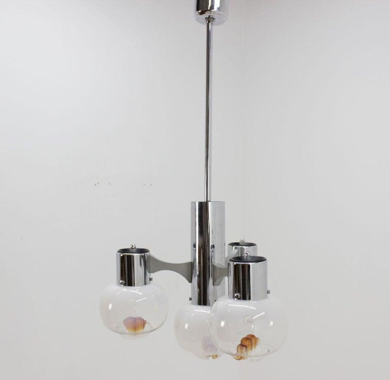 Midcentury Chandelier Murano Glass, Mazzega, 1970s For Sale 1