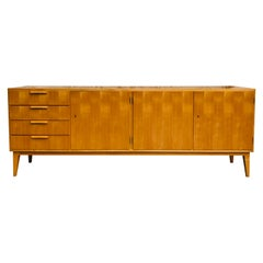Midcentury Checkered French Cherry Sideboard, 1960s