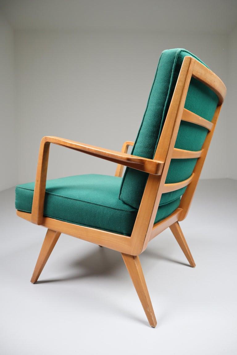 Mid-Century Modern Midcentury Cherry Armchair Designed by Walter Knoll