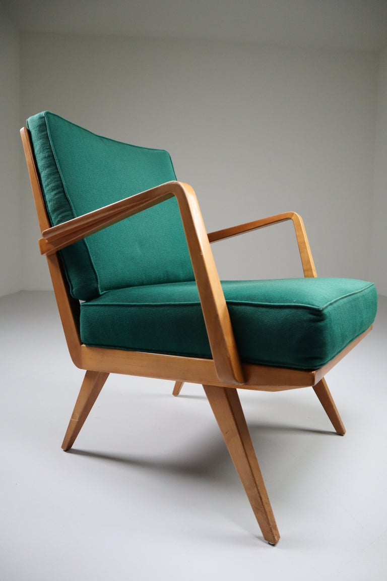 Midcentury Cherry Armchair Designed by Walter Knoll