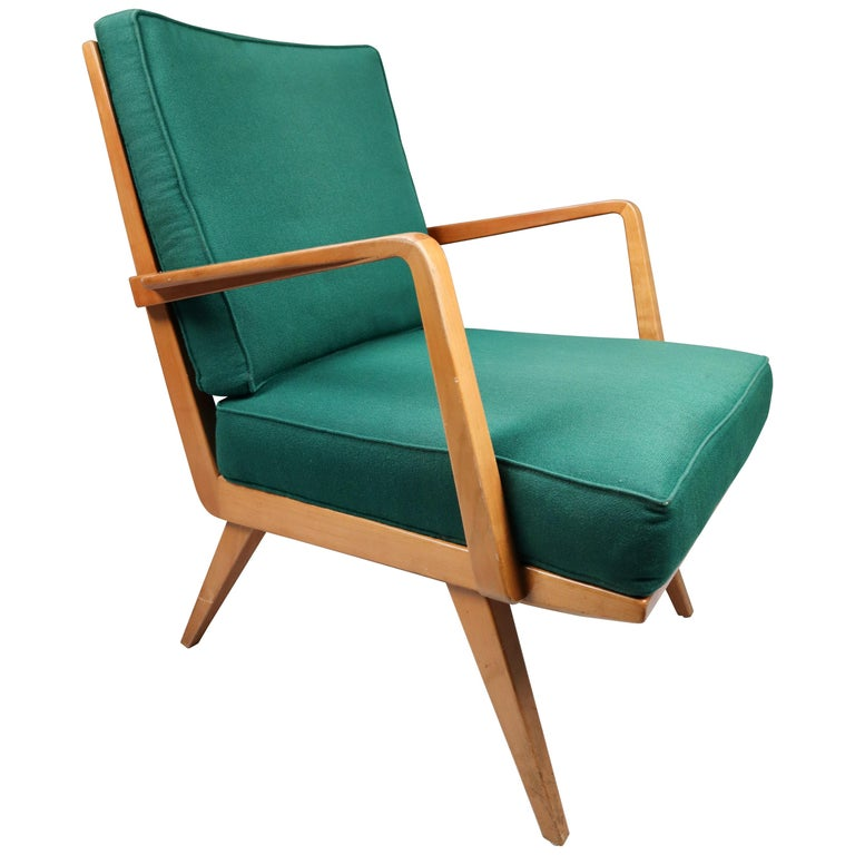 """Midcentury Cherry Armchair Designed by Walter Knoll """"Antimott"""", Germany, 1950s For Sale"""
