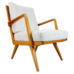 """Midcentury Cherry Armchair Designed by Walter Knoll """"Antimott"""", Germany, 1950s"""