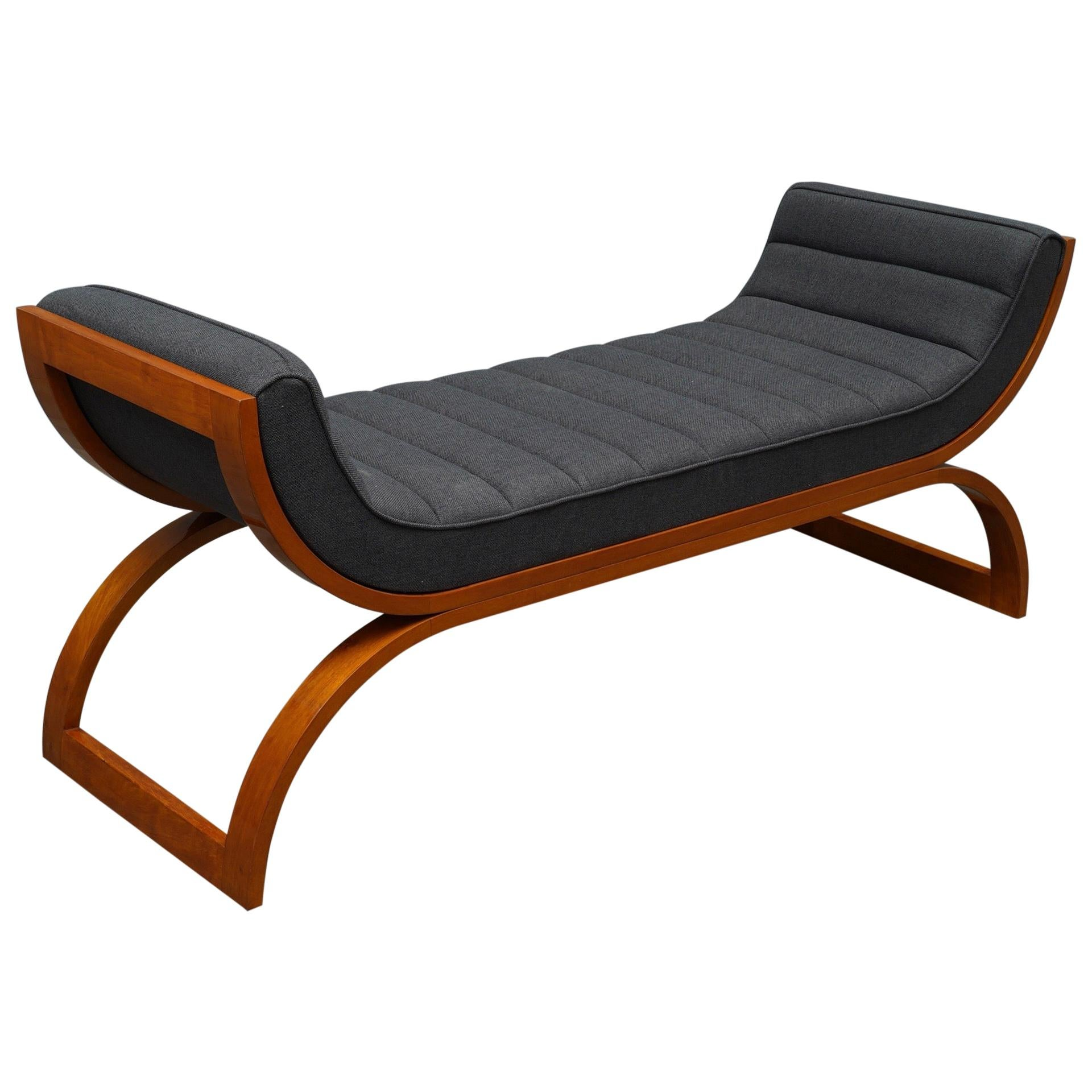 Midcentury Cherry Wood Daybed, 1950