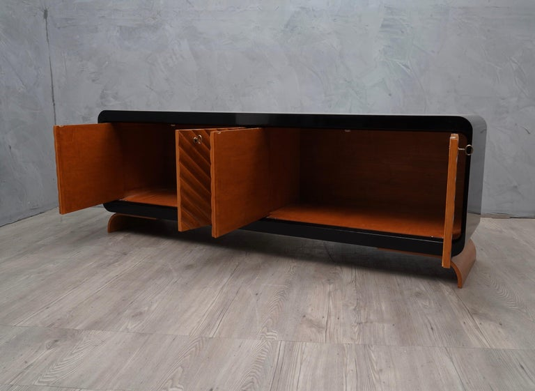 Mid-20th Century Midcentury Cherrywood Italian Sideboards, 1950 For Sale