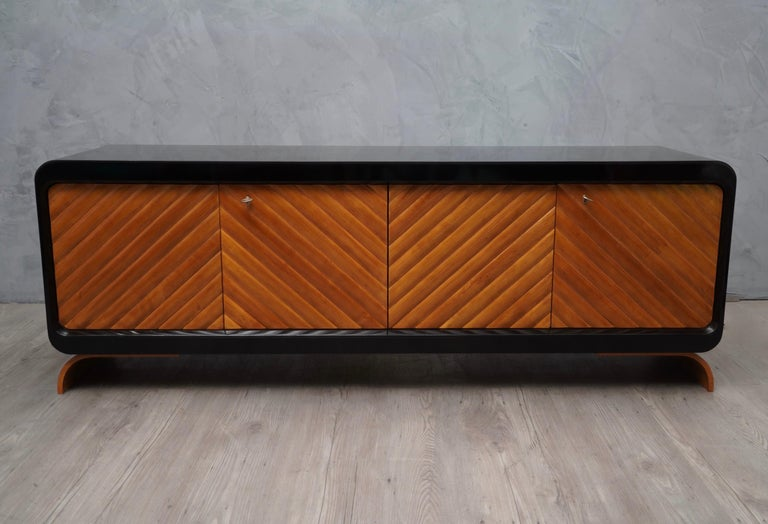 Midcentury Cherrywood Italian Sideboards, 1950 For Sale 1