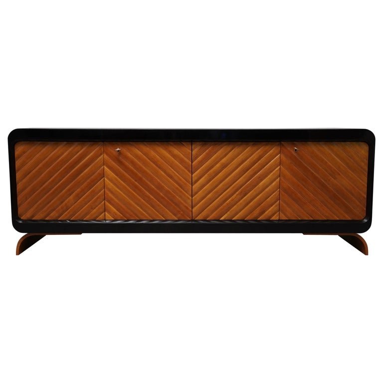 Midcentury Cherrywood Italian Sideboards, 1950 For Sale