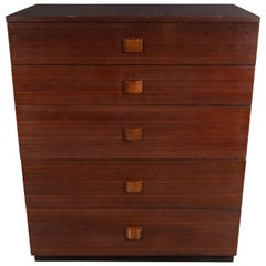 Midcentury Chest in Bookmatched Walnut by Gilbert Rohde for Herman Miller