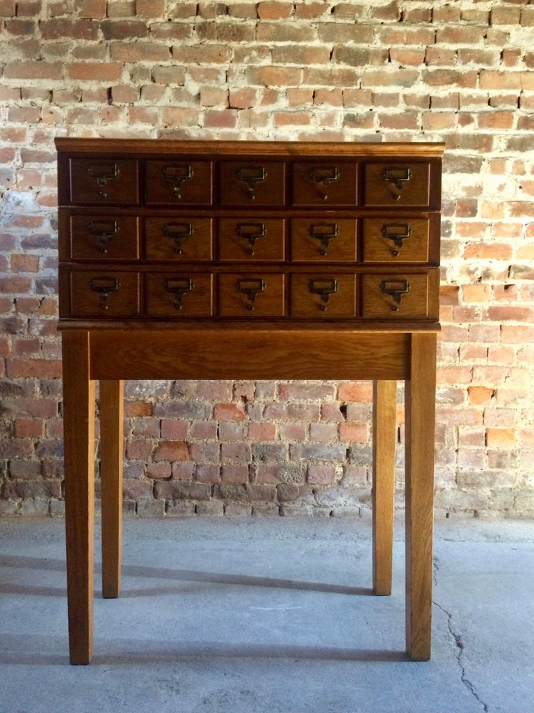 Midcentury Chest of Drawers Haberdashery Industrial Loft Style Oak For Sale 4