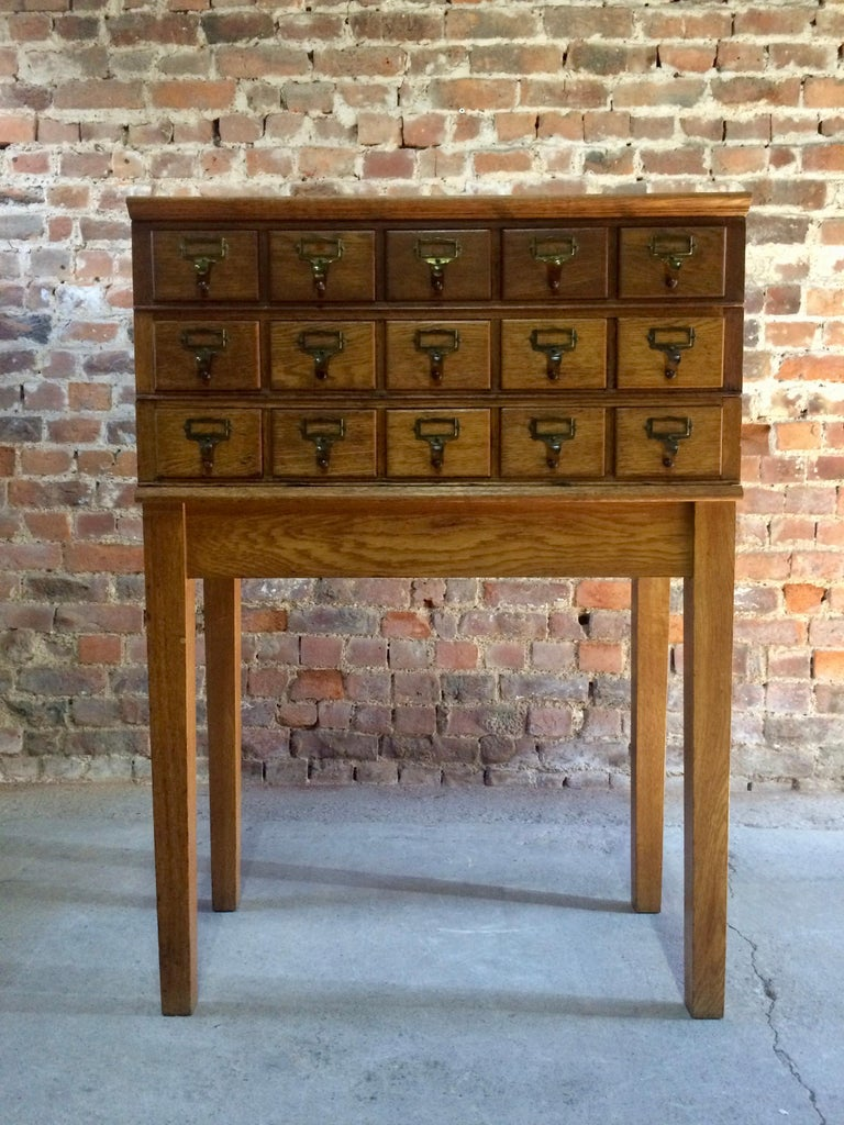 Midcentury Chest of Drawers Haberdashery Industrial Loft Style Oak For Sale 5