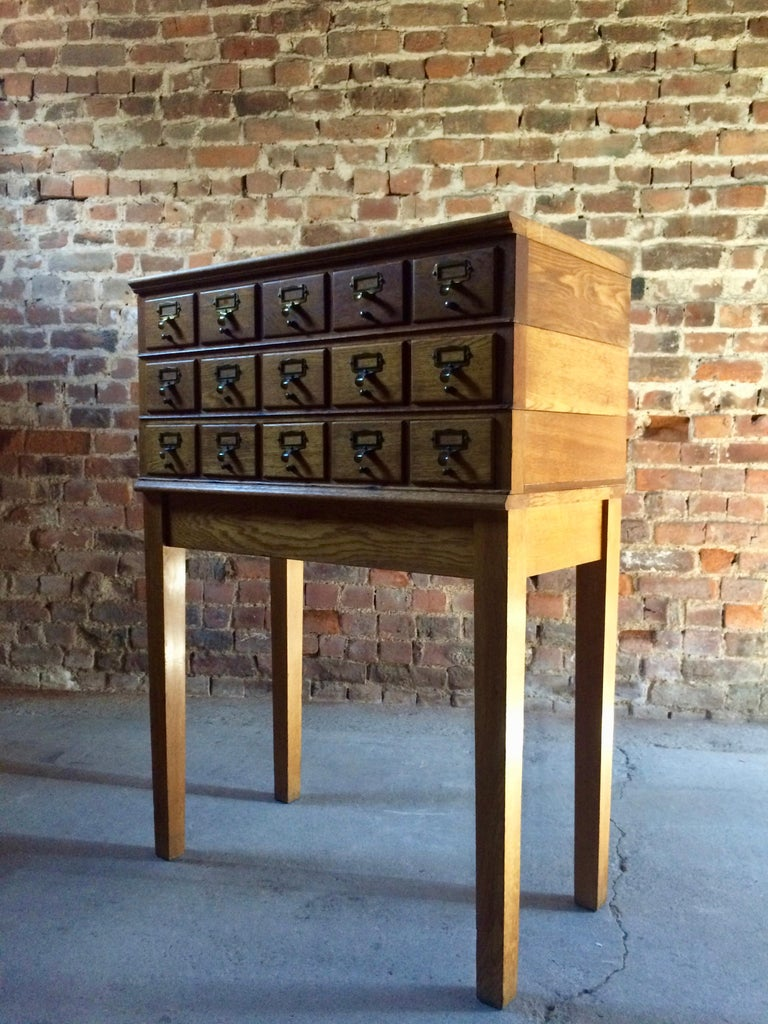 Midcentury Chest of Drawers Haberdashery Industrial Loft Style Oak For Sale 6