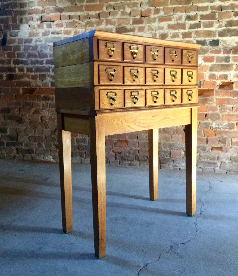 Mid-Century Modern Midcentury Chest of Drawers Haberdashery Industrial Loft Style Oak For Sale