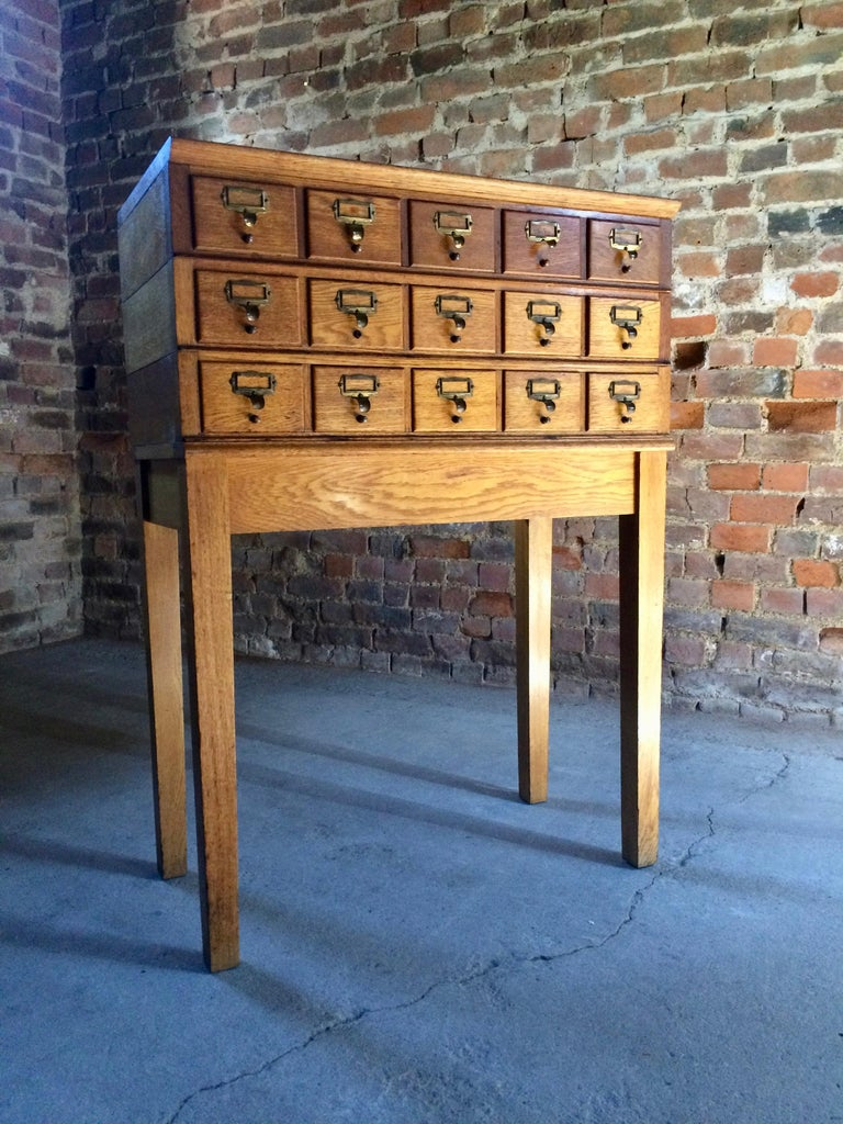 French Midcentury Chest of Drawers Haberdashery Industrial Loft Style Oak For Sale