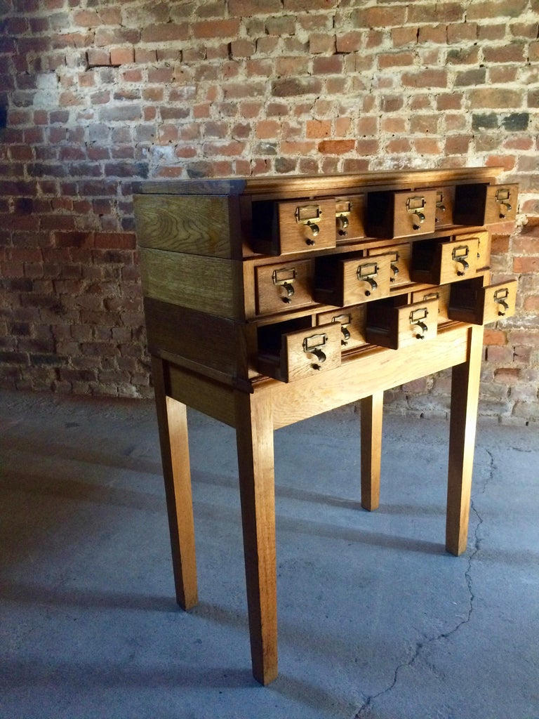Midcentury Chest of Drawers Haberdashery Industrial Loft Style Oak For Sale 2