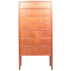 Midcentury Chest of Drawers in Teak Designed by Ole Wanscher, 1960s