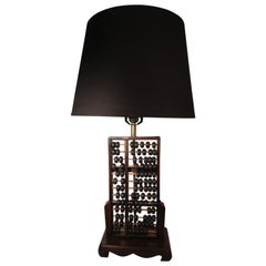 Mid Century Modern Chinese Abacus Table Lamp, circa 1960