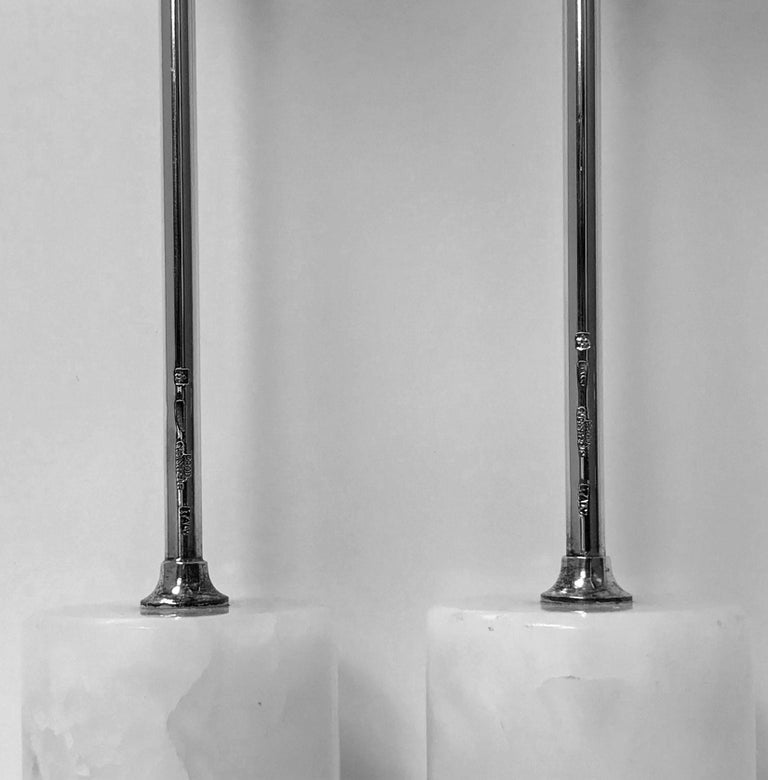 Midcentury Christofle Rare Design Candlesticks, Convertible to Vases In Good Condition For Sale In Toronto, Ontario