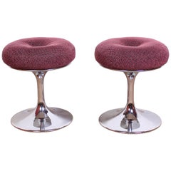 Midcentury Chrome Stools by Börje Johansson for Johansson Design, 1960s
