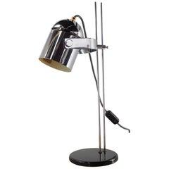Midcentury Chrome Table Lamp Combi Lux, Lidokov, Stanislav Indra, 1970s
