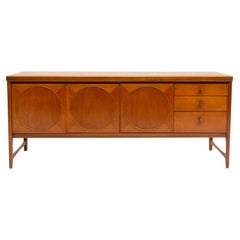 Midcentury Circles Teak Sideboard by Nathan Furniture, 1960s