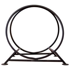 Midcentury Circular Log Holder