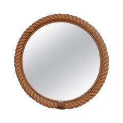 Midcentury Circular Rope Mirror