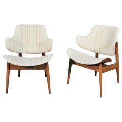 Midcentury Clam Chairs