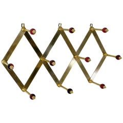 "Midcentury Coat rack ""Fisarmonica"" by Luigi Caccia Dominioni for Azucena"