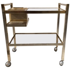 Midcentury Cocktail-Bar Trolley by Valenti