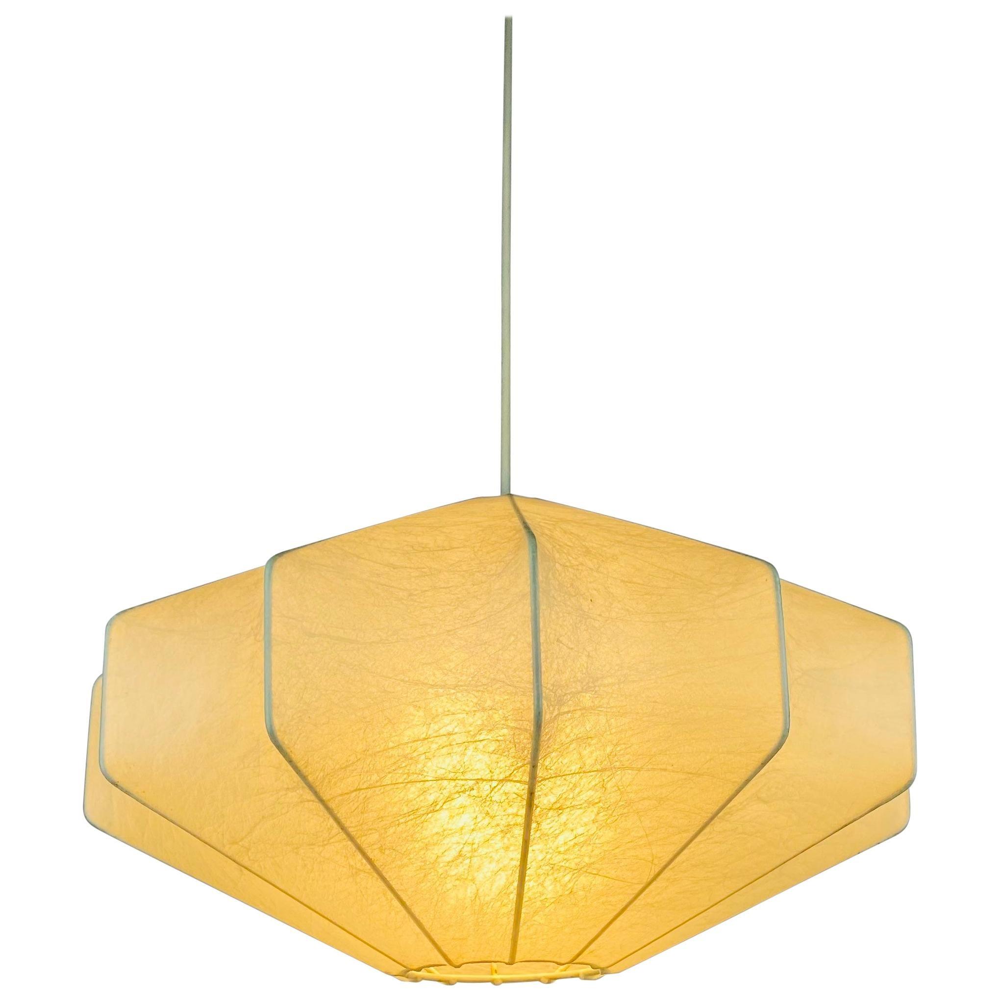 Midcentury Cocoon Losange Pendant Light, 1960s, Italy