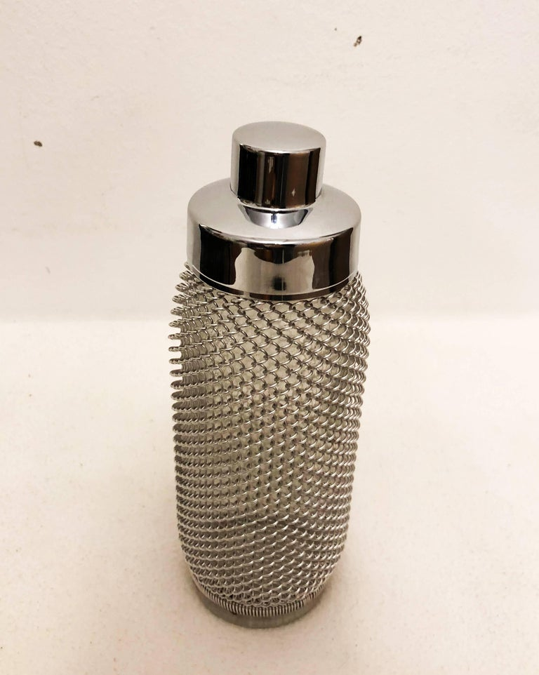 Steel Midcentury Cocktail Shaker For Sale