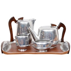 Midcentury Coffee and Tea Service Set by Picquot Ware, 1950s