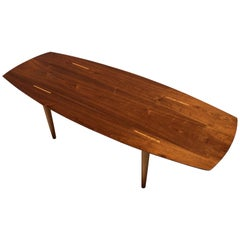 Midcentury Coffee Table by Abel Sorensen for Knoll, Walnut, 1960s