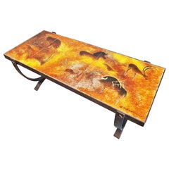 Midcentury Coffee Table by Georges Tardieu, Vallauris, France, 1960s