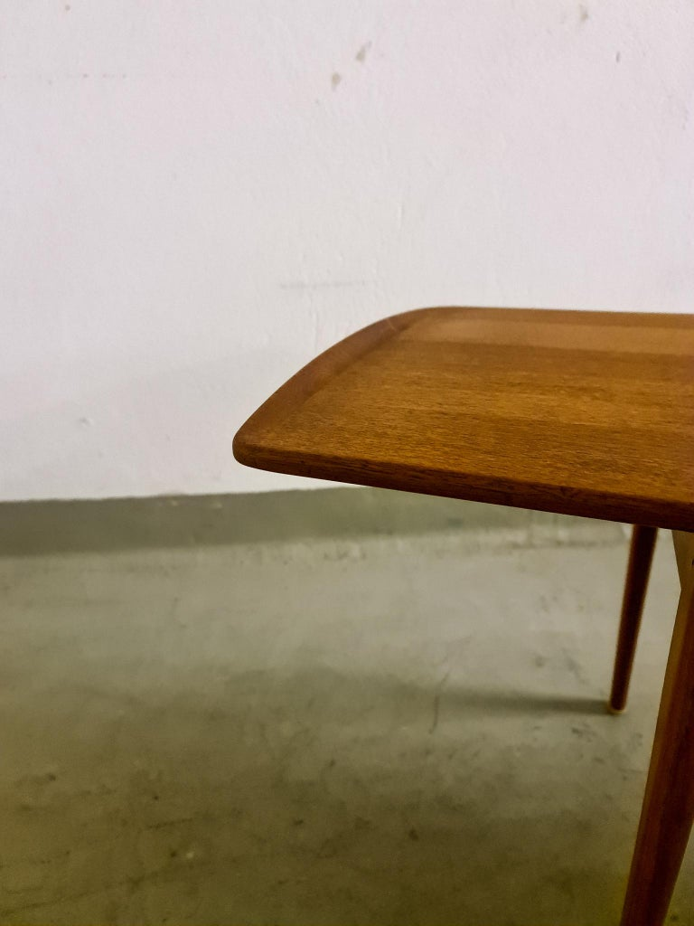 Midcentury Coffee Table by Kindt-Larsen for France and Daverkosen Denmark, 1960s For Sale 6