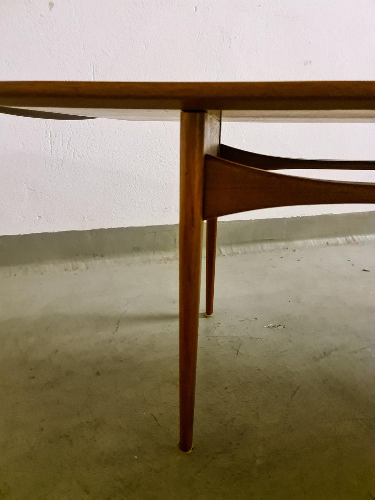 Midcentury Coffee Table by Kindt-Larsen for France and Daverkosen Denmark, 1960s For Sale 7