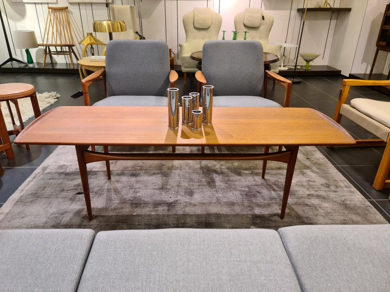 Midcentury Coffee Table by Kindt-Larsen for France and Daverkosen Denmark, 1960s For Sale 9