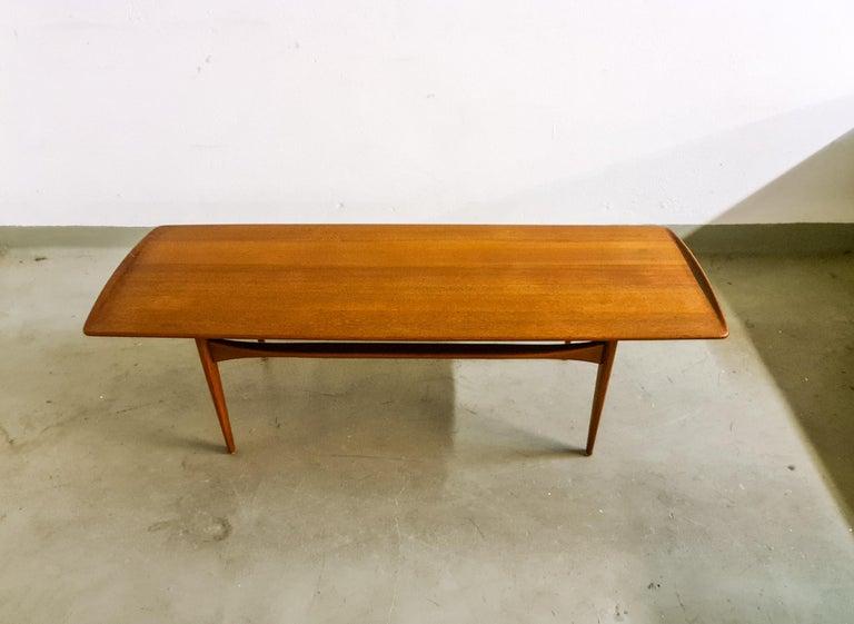 Mid-Century Modern Midcentury Coffee Table by Kindt-Larsen for France and Daverkosen Denmark, 1960s For Sale