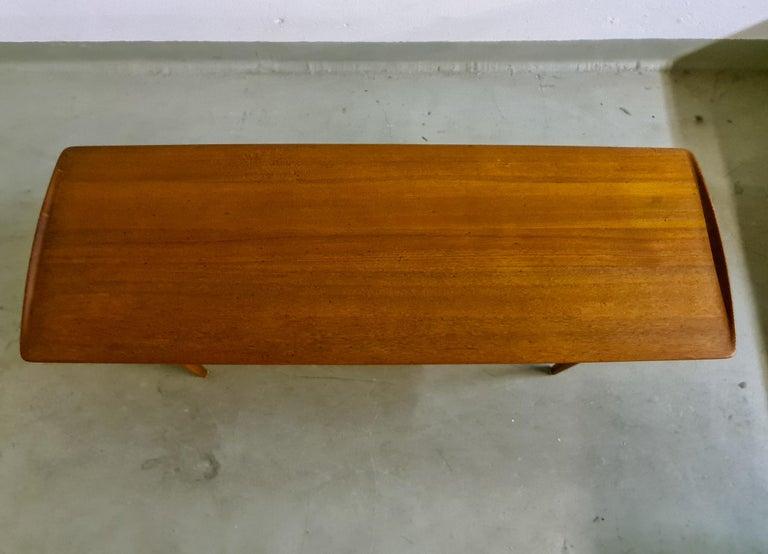 Danish Midcentury Coffee Table by Kindt-Larsen for France and Daverkosen Denmark, 1960s For Sale