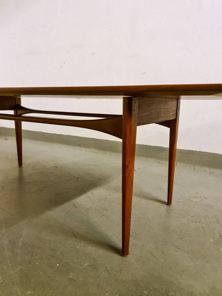 Midcentury Coffee Table by Kindt-Larsen for France and Daverkosen Denmark, 1960s For Sale 1