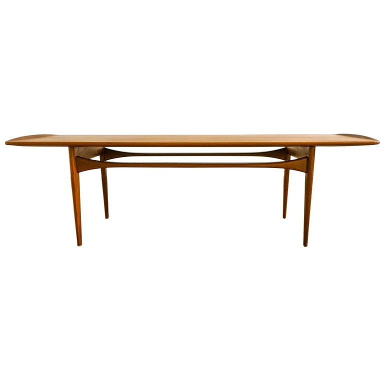 Midcentury Coffee Table by Kindt-Larsen for France and Daverkosen Denmark, 1960s For Sale