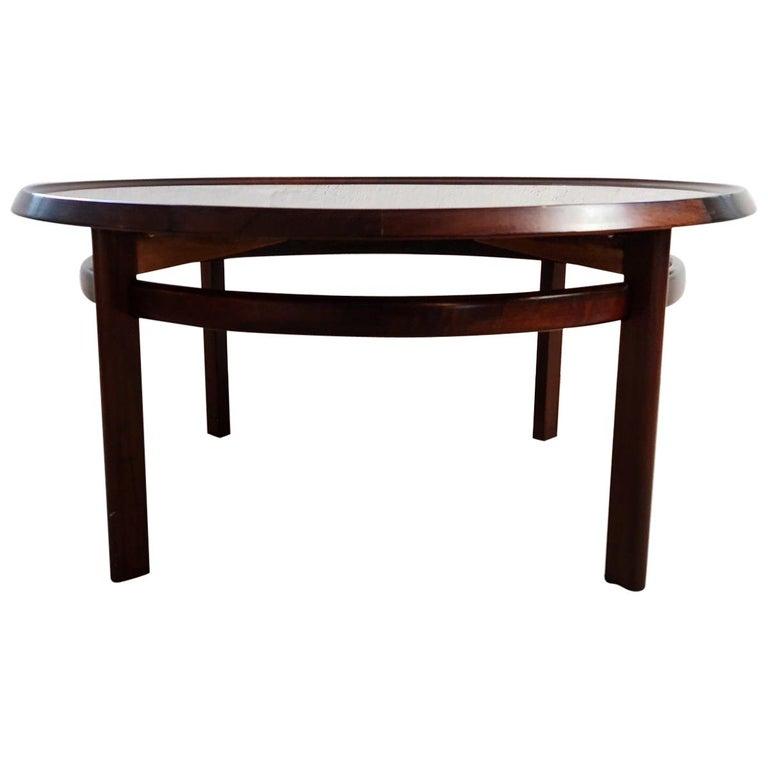 """Midcentury Coffee Table Rosewood """"Bellis"""" Torbjörn Afdal Norway For Sale"""
