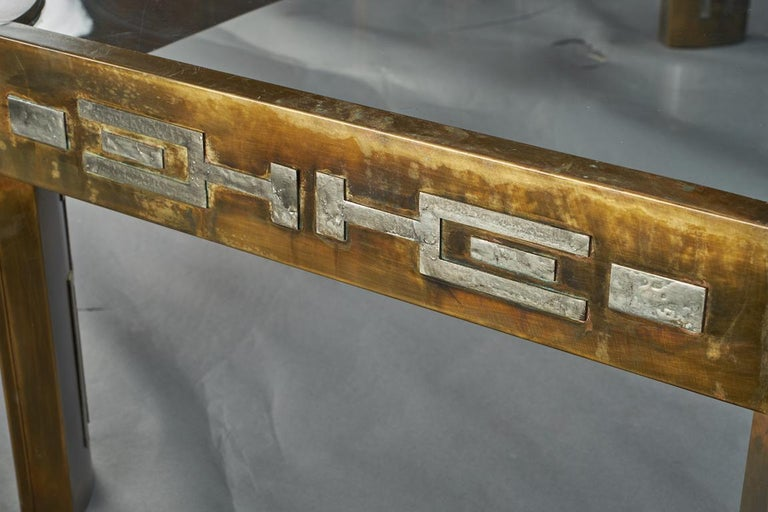 Midcentury Coffee Table with Glass Top, done by Philip and Kelvin LaVerne 5