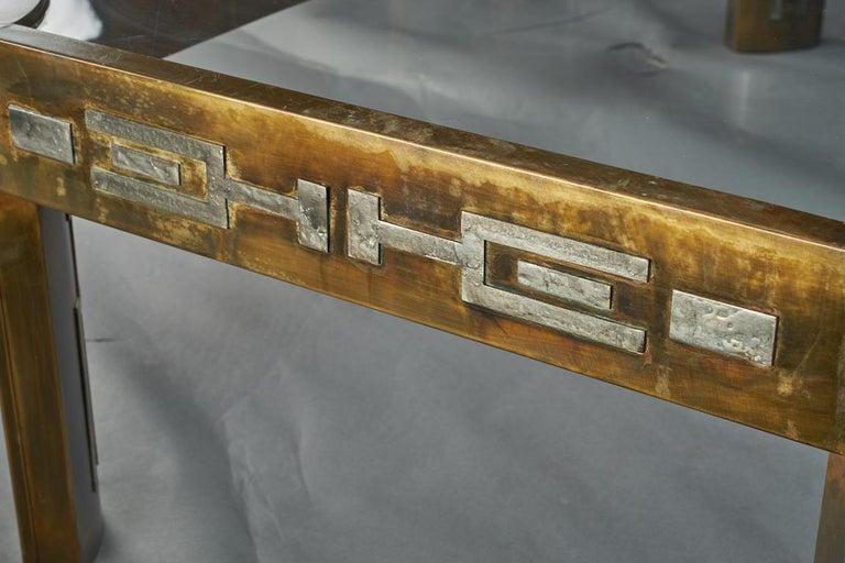 Jahrhundertmitte Couchtisch mit Glasplatte 5