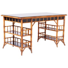 Midcentury Colonial Style Desk by Baker