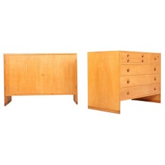 Midcentury Commode and Cabinet in Oak by Hans Wegner, Made in Denmark, 1960s