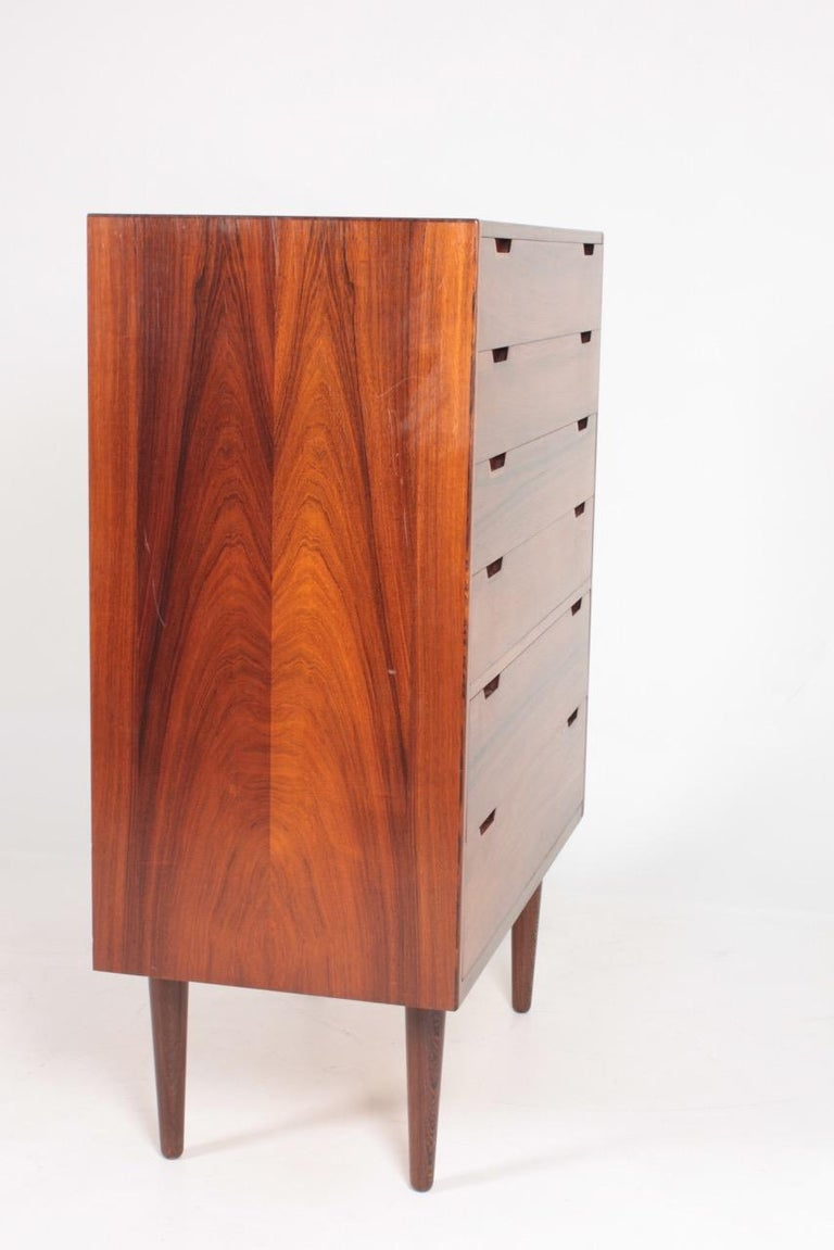 Midcentury Commode in Rosewood by Svend Langkilde, 1960s Danish Design For Sale 5