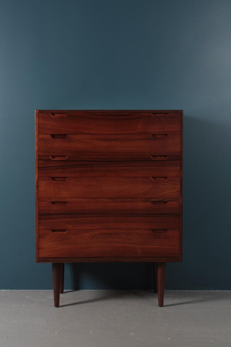 Midcentury Commode in Rosewood by Svend Langkilde, 1960s Danish Design For Sale 7