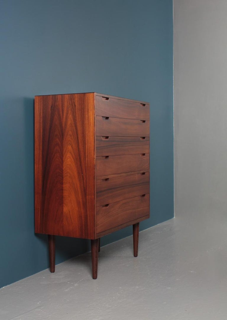 Midcentury Commode in Rosewood by Svend Langkilde, 1960s Danish Design For Sale 8